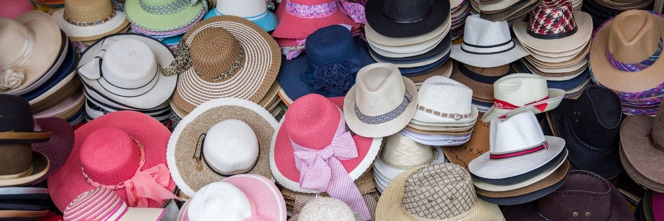 Picture of many different hats